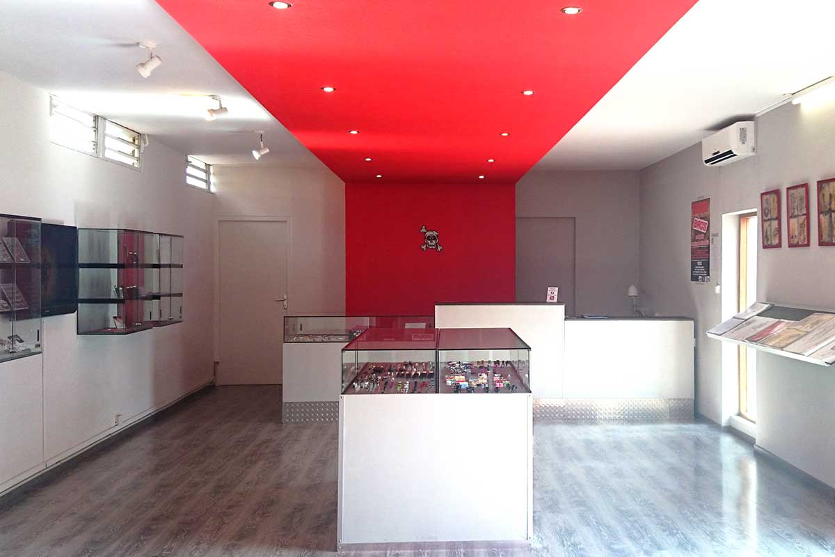 design architecture d'interieur plannification de l'espace boutique tatoo piercing